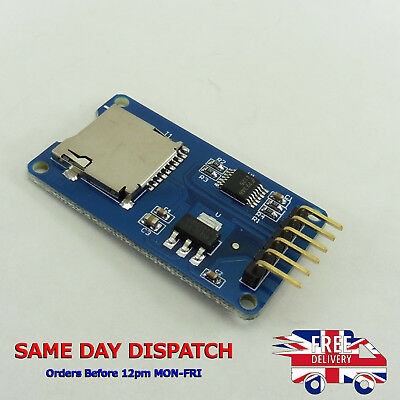 Micro SD Card Reader Module Holder Board Interface Arduino Slot Socket SPI E32