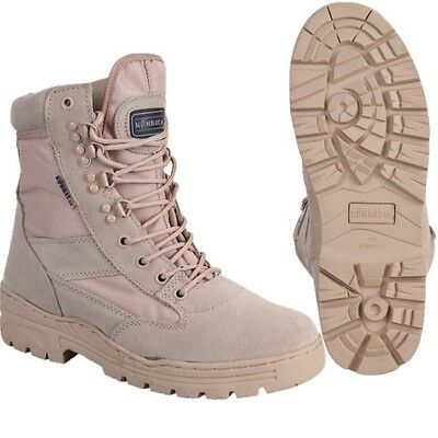 Military Desert Combat Boots Beige Sand Walking Mens Tactical Army Work Boots