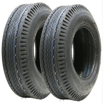 Two - 5.00-10 trailer tyres 6ply high speed road legal 437kgs 500x10 79N 5.00x10