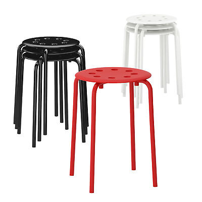 ikea stapelhocker stapelbarer hocker 45cm sitzh he stahl wei stuhl sitz eur 1 99 picclick de. Black Bedroom Furniture Sets. Home Design Ideas