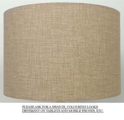 Sandstone / Cream / Beige Linen Style Cylinder / Drum Lampshade Ceiling / Table