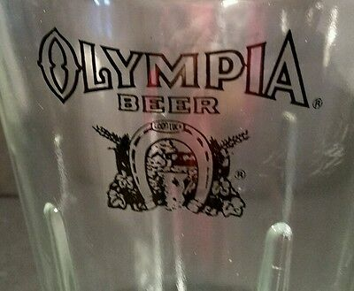 Olympia Beer Good Luck Glass Pitcher Black Graphics