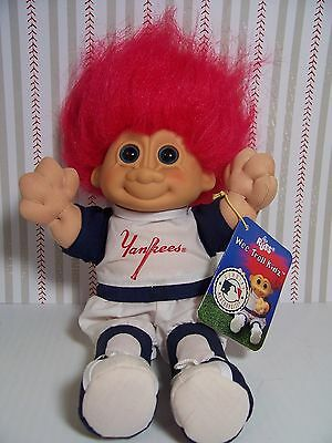 "NEW YORK YANKEES WITH HANG TAG - 9"" Russ Wee Troll Kidz Doll - NEW - Rare"