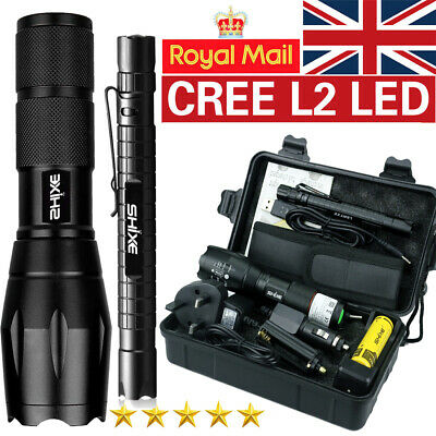 XML T6  LED Flashlight Rechargeable Tactical Torch Lamp 5000LM 18650 Battery