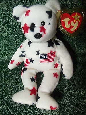 TY Beanie Babies Patriotic Teddy Bear  ** GLORY ** 5th Generation New w/ Tag