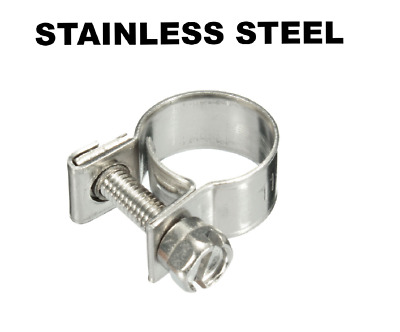 MINI FUEL LINE STAINLESS STEEL JUBILEE HOSE CLIP CLAMP DIESEL PETROL PIPE clamps