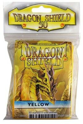 Dragon Shield - Yellow 50 protective Sleeves - Standard Hüllen z.B. für Magic