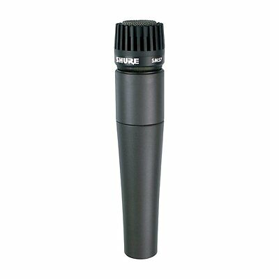 Shure SM57-LC Legendary Unidirectional Dynamic Pro Instrument Microphone