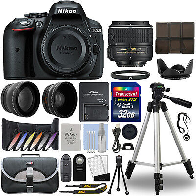 Nikon D5300 Digital SLR Camera + 18-55mm VR 3 Lens Kit + 32GB Best Value Kit