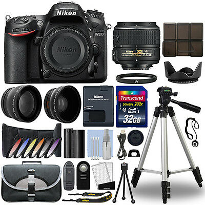 Nikon D7200 Digital SLR Camera + 18-55mm 3 Lens Kit + 32GB Best Value Kit
