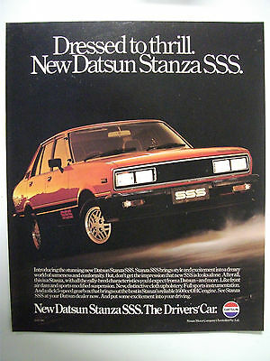 1980 Datsun Stanza Sss Fullpage Colour Magazine Advertisement