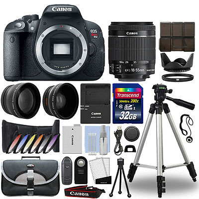 Canon T5i / 700D DSLR Camera + 18-55mm IS STM 3 Lens Kit + 32GB Best Value Kit