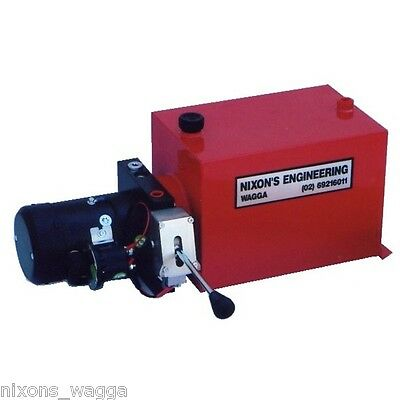 Hydraulic Power Pack, Single Acting with Lever Control. Good Quality Powerpack.