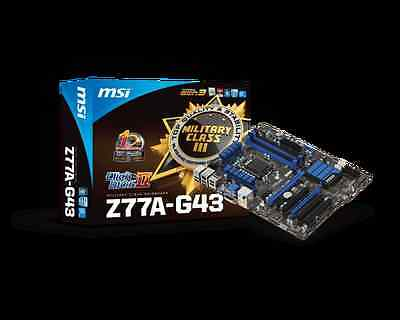 MSI Intel Z77A-G43 Gaming 1155 Socket MotherBoard 4 DDR3 Front USB 3.0 Crossfire