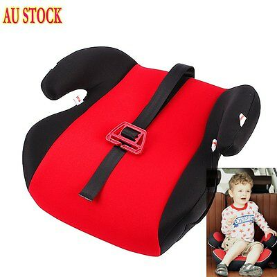 Cute Sturdy Safe Baby Child Kid Children Car Booster Seat Red Fit 3 To 12 Years