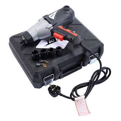"""Heavy Duty Electric Impact Wrench 1/2"""" Drive and 4 Sockets 450NM TORQUE 1010W"""