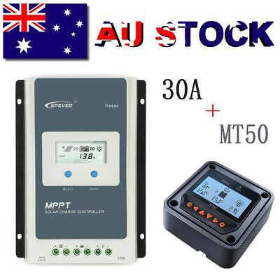 EPsolar 30A MPPT Solar Charge Controller Battery Regulator + MT50 Remote Meter