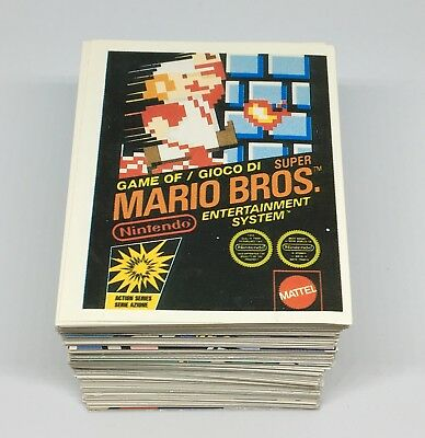 1992 MERLIN Nintendo Complete Set 276 Stickers Super Mario Bros Legend of Zelda