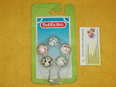 Subbuteo Ref. 61233 5 Palloni Nuovi New - Five Assorted Balls New Look Photo