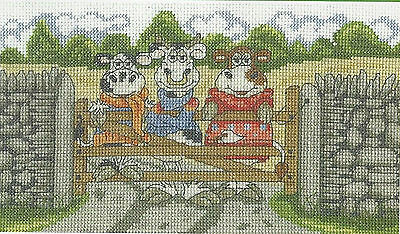 VAT Free DMC Counted Cross Stitch Kit Cows on the Moo-ve Hanging Out New BK1646