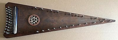 Soprano bowed psaltery, walnut veneer, vintage finishing, made by Hora Europe