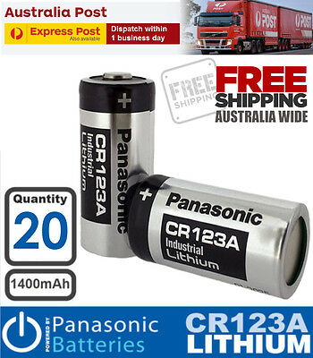 20x Panasonic 3V CR123a CR17345 Photo Lithium Battery CR123 DL123A EL123A