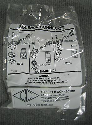 Canfield Connector P/n 5300 1091000 Solenoid Connector