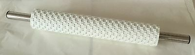 DEEP IMPRESSION BASKETWEAVE ROLLING PIN by PME  Sugar paste Fondant Pastry