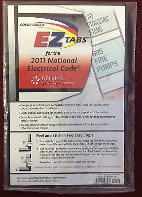 2011 EZ Tabs for NEC Code Book NFPA National Electrical Code Color Coded New