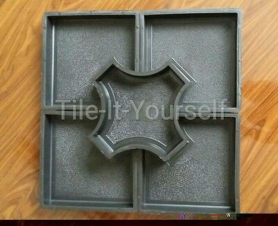 Set Of 5 Concrete Paving Interlocking Garden Path Slab Brick Floor Tile Mould 10