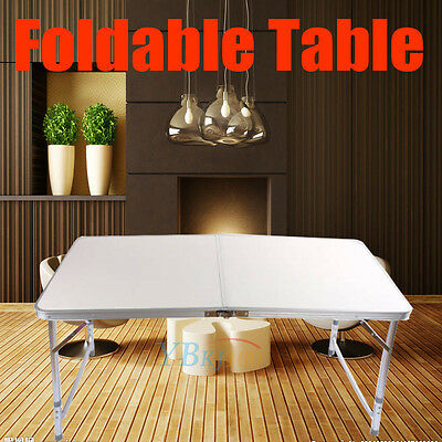 Collapsible 4FT Portable Foldable Camping Picnic Table Party Outdoor Garden Leg
