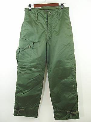 Military Extreme Cold Trousers Snow Pants Size Small 27-30 Weather IMPERMEABLE