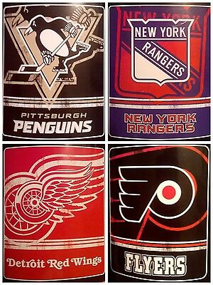 "NHL Team Logo 50"" x 60"" Warm Winter Fleece Throw Blanket"