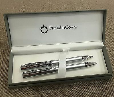 FC0021-1 Franklin Covey Greenwich Ball Point Pen & Pencil Set Chrome by Cross