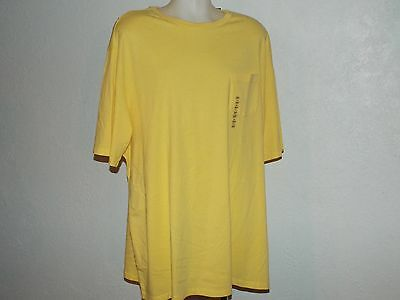NEW Mens 3XLT 3XT 3XL TALL POCKET T-Shirt Tee Shirt Ludlo YELLOW $22 SUMMER