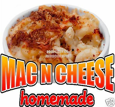 "Homemade Mac N Cheese Decal 10"" Restaurant Concession Food Truck Vinyl Menu"