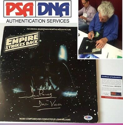 DAVID PROWSE signed VINYL RECORD LP  STAR WARS The Empire Strikes Back Dave PSA