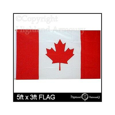 5' x 3' CANADA CANADIAN NATIONAL FLAG MAPLE LARGE NEW