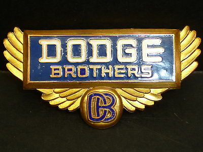 1928 1929 Dodge Brothers Truck Winged Radiator Emblem Badge