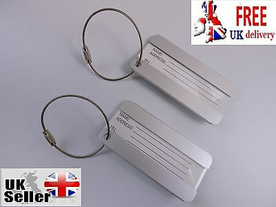 Aluminium Tags Metal Luggage Labels Strong Label Holiday Travel Identity Tag ID