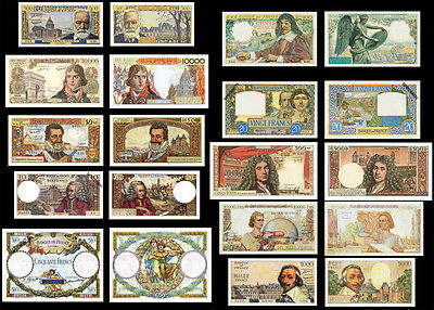 !copy! 10 Very Beautiful France Banknotes !not Real!