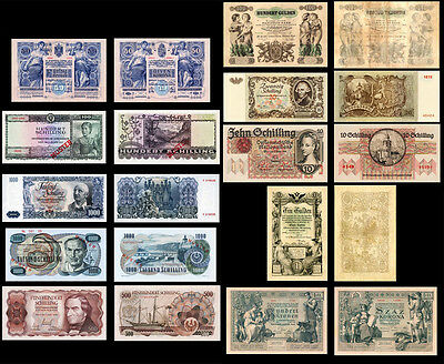 !copy! 10 Very Beautiful Austria Banknotes !not Real!