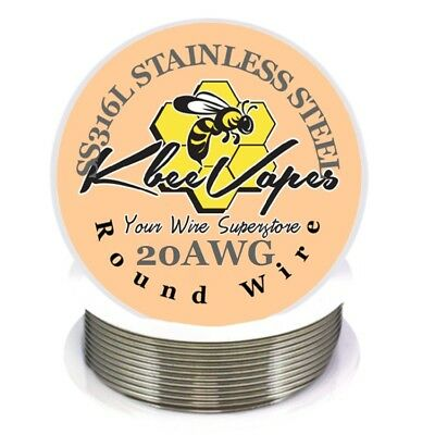 SS 316L - Stainless Steel Wire 100ft of 20 Gauge AWG