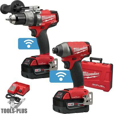 M18 FUEL 2-Tool Hammer & Impact Combo Kit with ONE-KEY Milwaukee 2796-22 New
