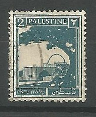 PALESTINE 1927 SG90 2m Greenish Blue Fine Used