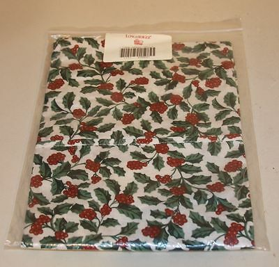 Longaberger Traditional Holly Kitchen Apron New in Bag