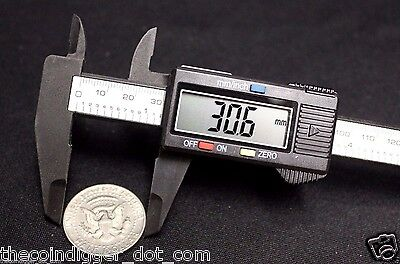 """Digital Caliper Coin Stamp Jewlery Electronic ✯ CARBON COMPOSITE 6"""" Inch 150mm"""
