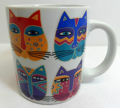 Laurel Burch Cats Coffee Mug Fantastic Felines 1995 Vintage