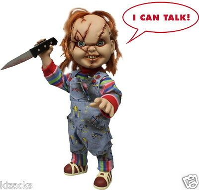 """Talking Chucky 15"""" Child's Play MEZCO doll Figure Evil Scarred Version Toy"""
