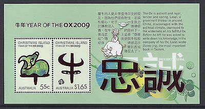 2009 Christmas Island Year Of The Ox Minisheet Fine Mint Mnh/muh